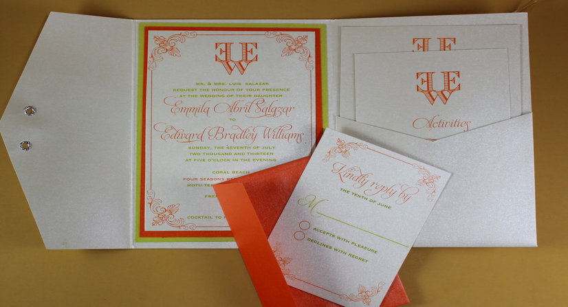 pocketfold wedding invitations