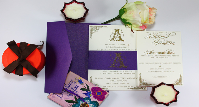 bellyband thermo wedding invitations